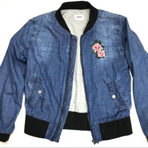 Hudson Girls Bomber Jacket Floral Patch XL